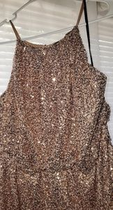 Charlotte Russe Gold Sequin dress